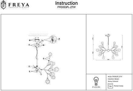 Инструкция / Схема для FR5053PL-27W