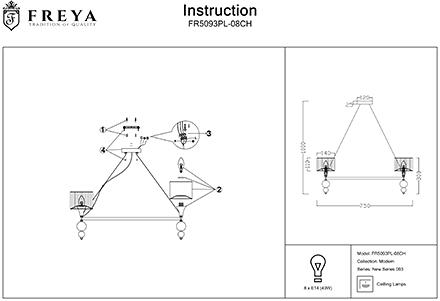 Инструкция / Схема для FR5093PL-08CH