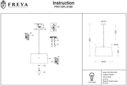 Инструкция / Схема для FR5118PL-01BS