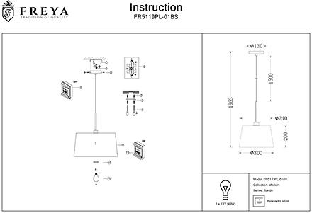 Инструкция / Схема для FR5119PL-01BS