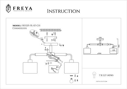 Инструкция / Схема для FR5329-PL-07-CH