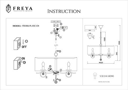 Инструкция / Схема для FR5906-PL-05C-CH