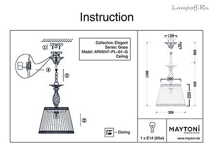 Инструкция / Схема для ARM247-PL-01-G
