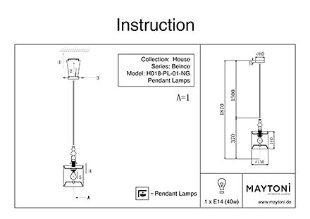 Инструкция / Схема для H018-PL-01-NG