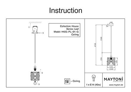 Инструкция / Схема для H425-PL-01-G