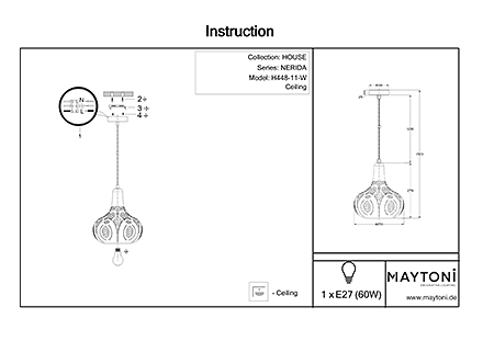 Инструкция / Схема для H448-11-W