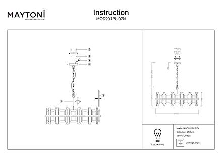 Инструкция / Схема для MOD201PL-07N