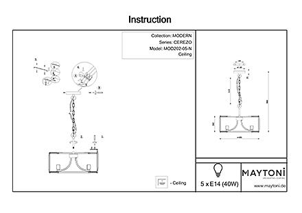Инструкция / Схема для MOD202-05-N