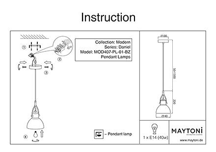 Инструкция / Схема для MOD407-PL-01-BZ