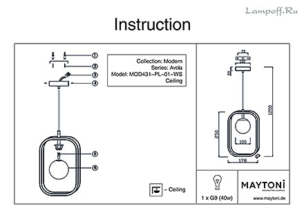 Инструкция / Схема для MOD431-PL-01-WS
