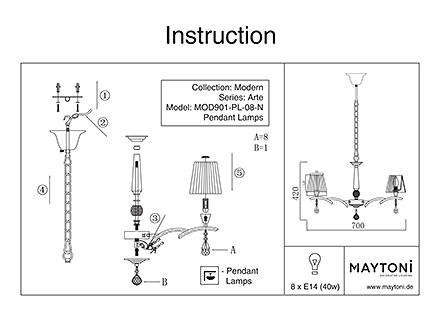 Инструкция / Схема для MOD901-PL-08-N