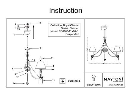 Инструкция / Схема для RC0100-PL-08-R