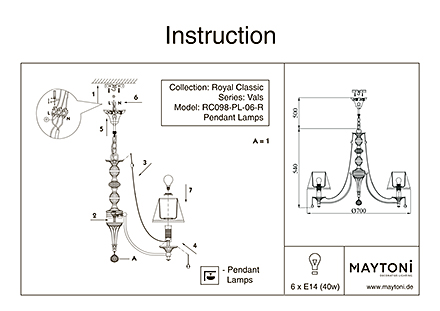 Инструкция / Схема для RC098-PL-06-R