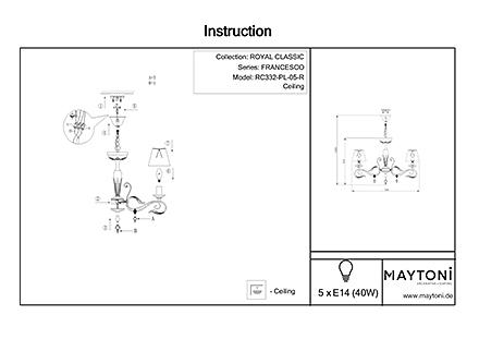 Инструкция / Схема для RC332-PL-05-R
