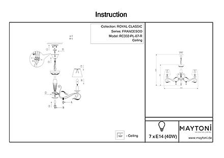Инструкция / Схема для RC332-PL-07-R