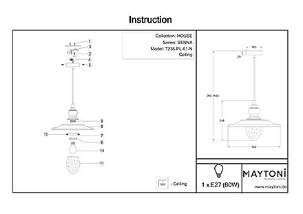 Инструкция / Схема для T236-PL-01-N