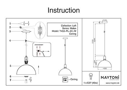 Инструкция / Схема для T453-PL-01-W