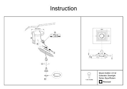 Инструкция / Схема для DL005-1-01-W