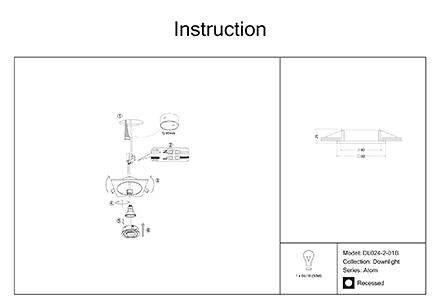 Инструкция / Схема для DL024-2-01B