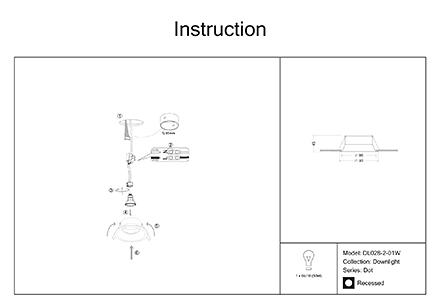 Инструкция / Схема для DL028-2-01W