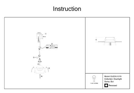 Инструкция / Схема для DL029-2-01B