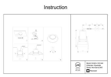 Инструкция / Схема для DL040-L10CH4K