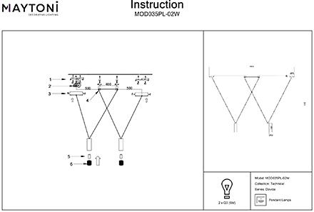 Инструкция / Схема для MOD035PL-02W
