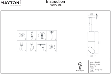 Инструкция / Схема для P026PL-01B