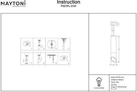 Инструкция / Схема для P027PL-01W