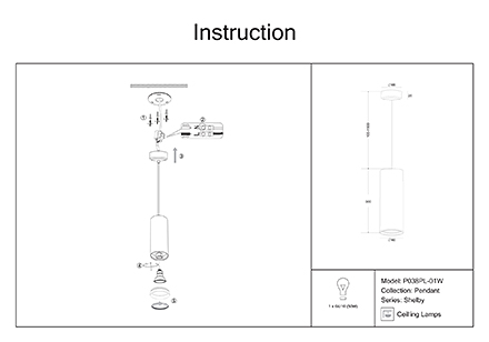 Инструкция / Схема для P038PL-01W