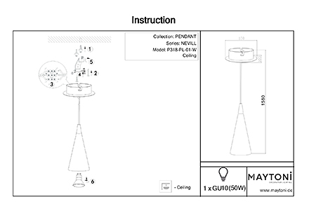 Инструкция / Схема для P318-PL-01-W